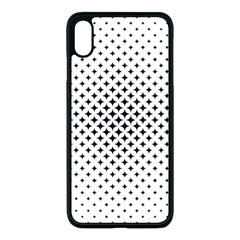 Star Curved Pattern Apple Iphone Xs Max Seamless Case (black)