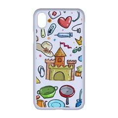 Baby Equipment Child Sketch Hand Apple Iphone Xr Seamless Case (white)