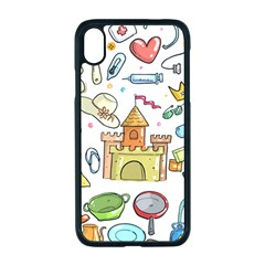 Baby Equipment Child Sketch Hand Apple Iphone Xr Seamless Case (black)