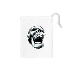 Skull Screaming Drawstring Pouch (small)