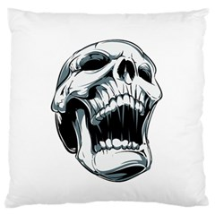 Skull Screaming Large Flano Cushion Case (two Sides)