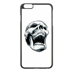 Skull Screaming Apple Iphone 6 Plus/6s Plus Black Enamel Case