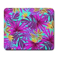 Tropical Pink Leaves Large Mousepads by Jojostore