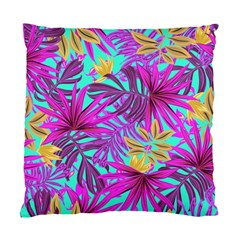 Tropical Pink Leaves Standard Cushion Case (one Side)