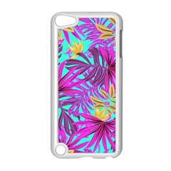 Tropical Pink Leaves Apple Ipod Touch 5 Case (white)