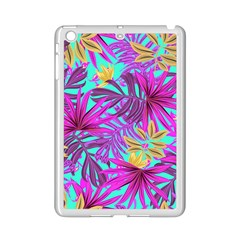 Tropical Pink Leaves Ipad Mini 2 Enamel Coated Cases by Jojostore