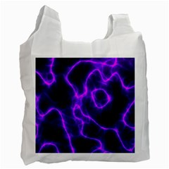 Purple Pattern Background Structure Recycle Bag (two Side)