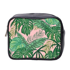 Tropical Greens Leaves Mini Toiletries Bag (two Sides)