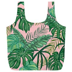 Tropical Greens Leaves Full Print Recycle Bag (xl)