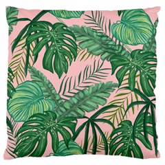 Tropical Greens Leaves Standard Flano Cushion Case (one Side) by Jojostore