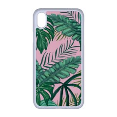 Tropical Greens Leaves Apple Iphone Xr Seamless Case (white)