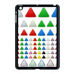 Triangle Button Metallic Metal Apple Ipad Mini Case (black)