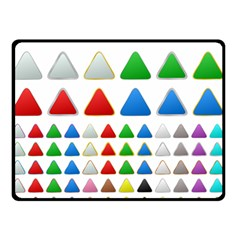 Triangle Button Metallic Metal Double Sided Fleece Blanket (small)
