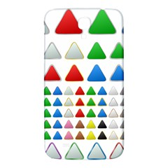 Triangle Button Metallic Metal Samsung Galaxy Mega I9200 Hardshell Back Case by Jojostore