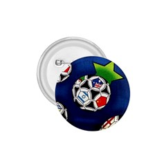 Textile Football Soccer Fabric 1 75  Buttons by Pakrebo