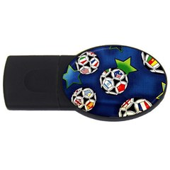 Textile Football Soccer Fabric Usb Flash Drive Oval (2 Gb) by Pakrebo
