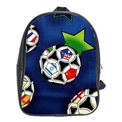 Textile Football Soccer Fabric School Bag (large)