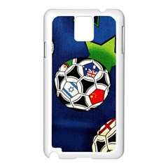 Textile Football Soccer Fabric Samsung Galaxy Note 3 N9005 Case (white) by Pakrebo