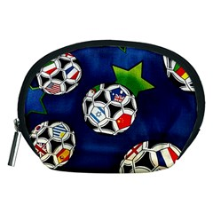 Textile Football Soccer Fabric Accessory Pouch (medium)