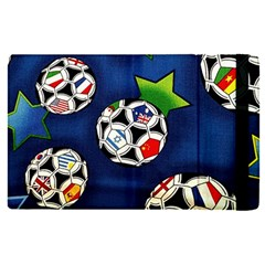 Textile Football Soccer Fabric Apple Ipad Pro 12 9   Flip Case