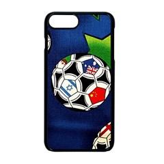 Textile Football Soccer Fabric Apple Iphone 8 Plus Seamless Case (black)