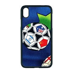 Textile Football Soccer Fabric Apple Iphone Xr Seamless Case (black)
