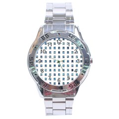 Square Jewelry Jewel Gemstone Rim Stainless Steel Analogue Watch
