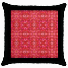 Triangle Mosaic Red Pattern Mirror Throw Pillow Case (black) by Jojostore