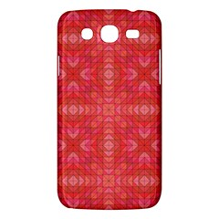 Triangle Mosaic Red Pattern Mirror Samsung Galaxy Mega 5 8 I9152 Hardshell Case