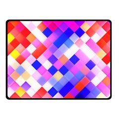 Squares Pattern Geometric Seamless Double Sided Fleece Blanket (small)