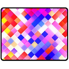 Squares Pattern Geometric Seamless Double Sided Fleece Blanket (medium)