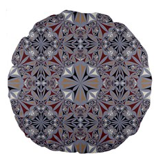 Triangle Pattern Kaleidoscope Large 18  Premium Round Cushions by Jojostore