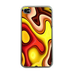 Pattern Background Structure Apple Iphone 4 Case (clear)