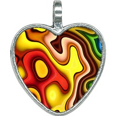 Pattern Background Structure Heart Necklace