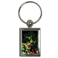 Fractal Cauliflower Green Rendered Key Chains (rectangle)