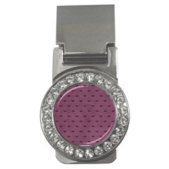 Nodes Purple Texture Money Clips (cz)