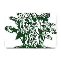 Plant Tropical Leaf Colocasia Small Doormat  by AnjaniArt
