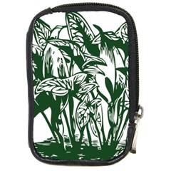 Plant Tropical Leaf Colocasia Compact Camera Leather Case by AnjaniArt