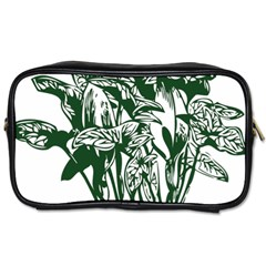 Plant Tropical Leaf Colocasia Toiletries Bag (two Sides)