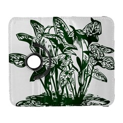 Plant Tropical Leaf Colocasia Samsung Galaxy S  Iii Flip 360 Case by AnjaniArt