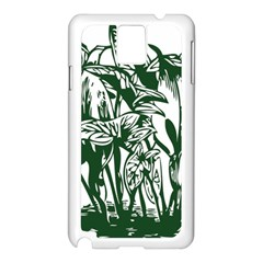 Plant Tropical Leaf Colocasia Samsung Galaxy Note 3 N9005 Case (white) by AnjaniArt