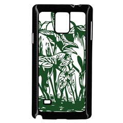 Plant Tropical Leaf Colocasia Samsung Galaxy Note 4 Case (black) by AnjaniArt