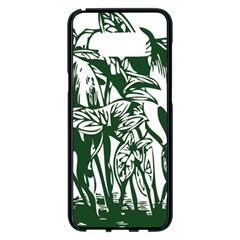 Plant Tropical Leaf Colocasia Samsung Galaxy S8 Plus Black Seamless Case
