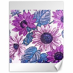 Fabric Flowers Floral Design Canvas 12  X 16