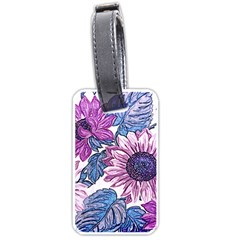 Fabric Flowers Floral Design Luggage Tags (one Side)