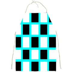 Squares Pattern Full Print Aprons by AnjaniArt