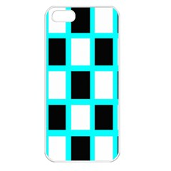 Squares Pattern Apple Iphone 5 Seamless Case (white)
