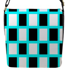 Squares Pattern Flap Closure Messenger Bag (s) by AnjaniArt