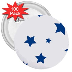 Star 3  Buttons (100 Pack)