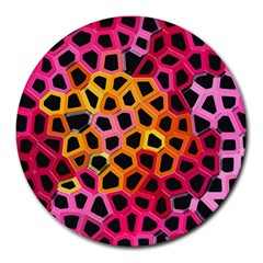 Mosaic Structure Pattern Background Round Mousepads